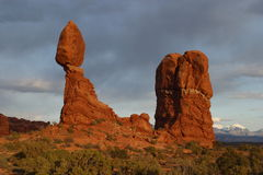 Balanced Rock. Arches National Park stock photo