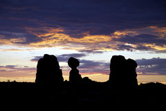 Balanced Rock Arches N.P. Sunrise Royalty Free Stock Images