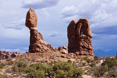 Balanced Rock at Arches National Park Royalty Free Stock Photo