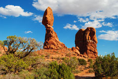 Balanced Rock in Arches National Park Stock Photo