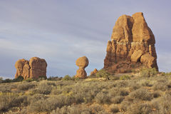 Balanced Rock Arches National Park Stock Image