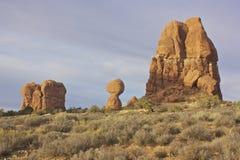 Balanced Rock Arches National Park Stock Image
