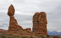 Balanced Rock Arches National Park Moab Utah. Stock Image