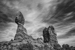 Balanced Rock in Arches National Park near Moab, Utah Royalty Free Stock Photos