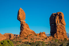 Balanced rock, Arches National Park Royalty Free Stock Photo