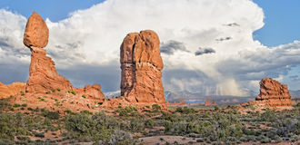 Balanced Rock At Arches National Park Royalty Free Stock Photography