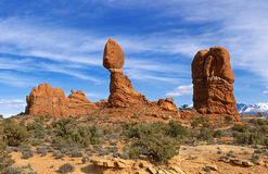 Balanced Rock at Arches National Park, Utah Royalty Free Stock Photo