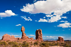 Balanced Rock in Arches National Park,Utah Stock Image