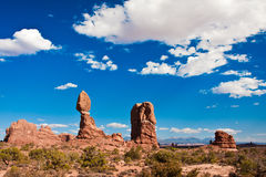 Balanced Rock in Arches National Park,Utah Stock Photos