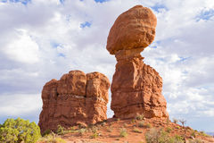 Balanced rock, Arches National Park, Utah. Red rocks Royalty Free Stock Images
