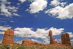 Balanced Rock in Arches National Park, Utah, USA Stock Photo