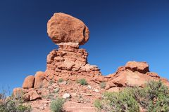 Balanced Rock. At Arches National Park in Utah, USA Stock Photography