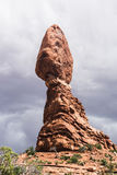 Balanced rock in Arches National Park Stock Image