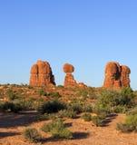 Balanced Rock, Arches National Park, Utah, USA Stock Photography