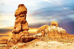 Balanced rock in Arches National Park, Utah, USA Royalty Free Stock Images