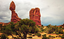 Balanced Rock, Arches, Utah Stock Photo