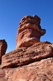 Balanced rock formation in Garden of the Gods Royalty Free Stock Photography