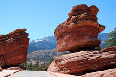 Balanced Rock Garden of Gods. Balanced Rock Garden of the Gods. Colorado Springs in April 2008. Magnificent red sandstone rock formations, some over 300 million Stock Photos