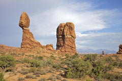 Balanced Rock Landscape Arches N.P. Royalty Free Stock Image