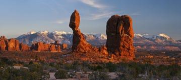 Balanced Rock Panorama. Stock Image