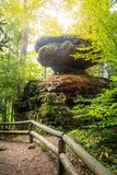 Balanced Rock in Red River Gorge stock image