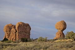 Balanced Rock Scenic Arches N.P. Utah Royalty Free Stock Photography