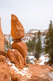 Balanced Rocks in Bryce Canyon, Utah. Incredible stacked rocks in Bryce Canyon, Utah during the winter time Stock Photo