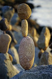 Balanced Rocks. On Pacific Beach Stock Images