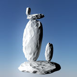 Balanced rocks. Rocks balanced on top of one another in various positions Stock Photo