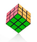 Balanced Rubik´s cube Stock Photo