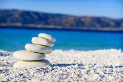 Balanced sand stones royalty free stock photo