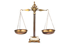 Balanced scale. A balanced scale signifies fairness, equilibrium, etc Royalty Free Stock Photography