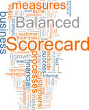 Balanced scorecard. Word cloud concept illustration of balanced scorecard Stock Images