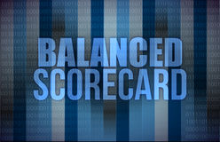 Balanced scorecard on digital screen, business. Concept illustration design Royalty Free Stock Photography