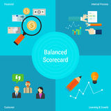 Balanced scorecard in vector flat style Stock Images