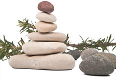 Balanced sea stones Stock Image