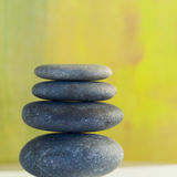 Balanced smooth rocks. Studio close up of balanced smooth rocks Stock Image