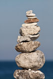 Balanced stack of pebbles Stock Photo