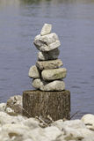 Balanced Stack Of Rocks Royalty Free Stock Photo