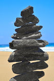 Balanced stack of stones Royalty Free Stock Photos