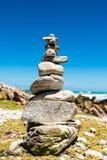Balanced stack of stones - Zen design concept Royalty Free Stock Photos