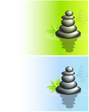 Balanced stacks of zen stones Stock Images