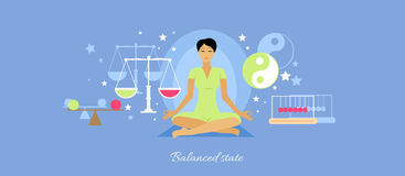 Balanced State Woman Icon Flat Isolated Royalty Free Stock Photos