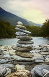 Balanced Stone Stack Royalty Free Stock Photos