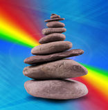 Balanced Stone Tower Royalty Free Stock Images