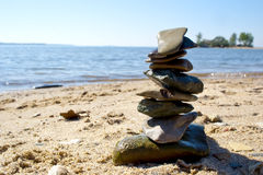 Balanced stones Royalty Free Stock Images