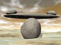 Balanced stones - 3D render Royalty Free Stock Image
