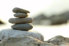 Balanced stones over nature background Stock Image