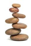 Balanced stones over white Stock Photos