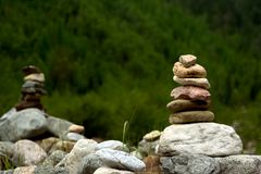 Balanced stones Royalty Free Stock Photos